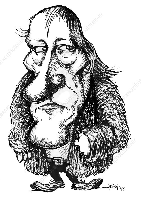 Georg Hegel, caricature