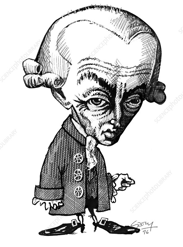 Immanuel Kant, caricature