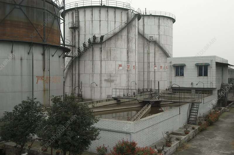 Biogas power plant, China