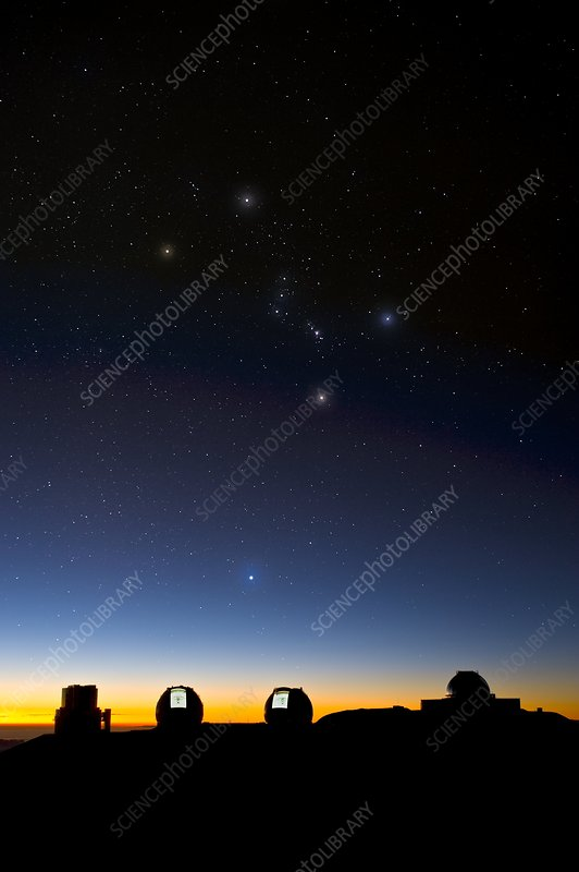 Orion and observatories, Hawaii