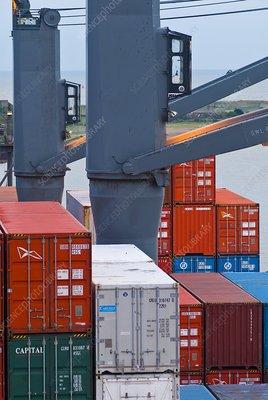 Cargo on a container ship