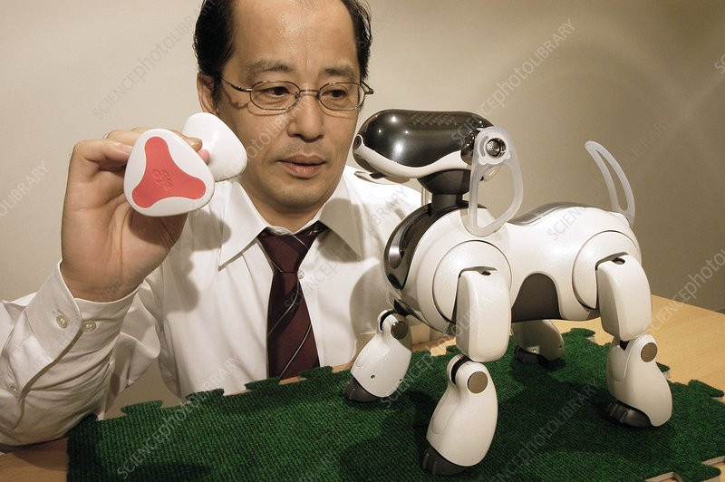 the scientist and his robot dog