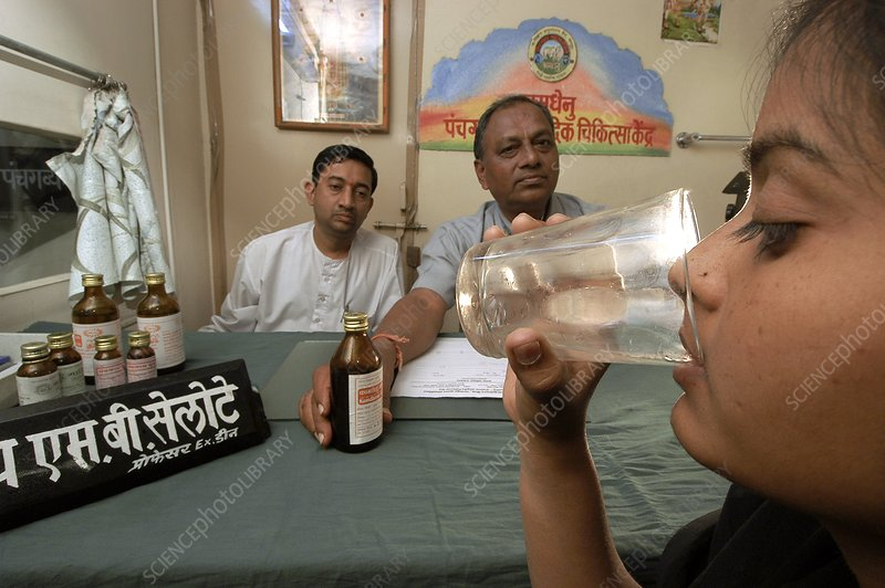 Drinking cow product remedy, India
