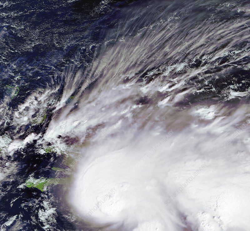 Tropical storm Noel, satellite image
