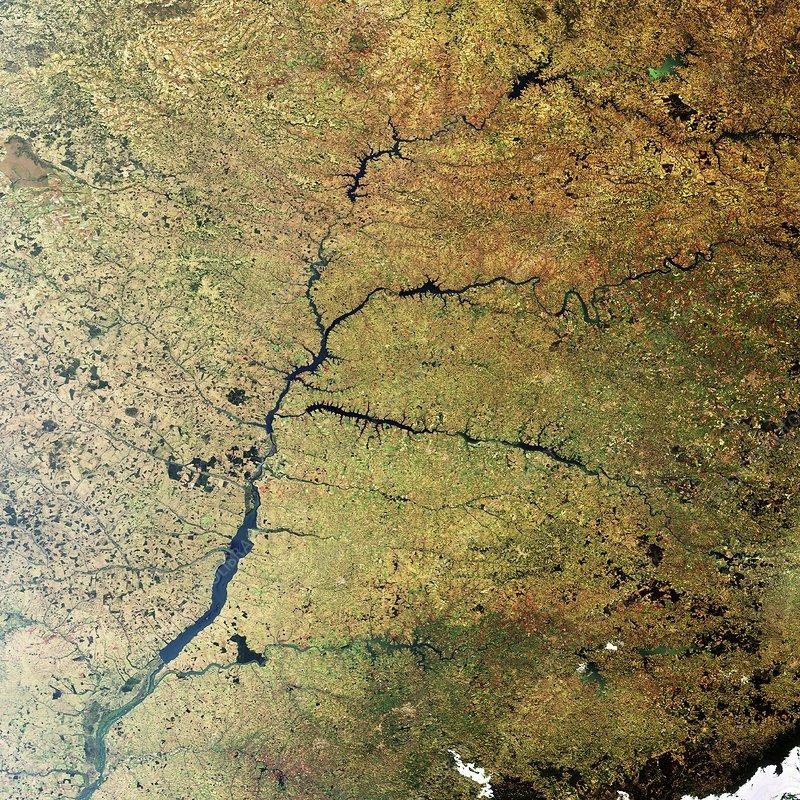 Parana River, Brazil, satellite image