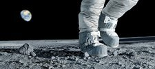 Astronaut walking on the Moon
