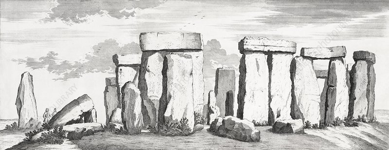 Stonehenge, 17th century artwork