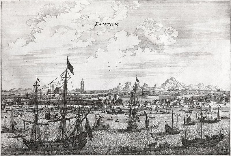 Canton Harbour, 17th century artwork