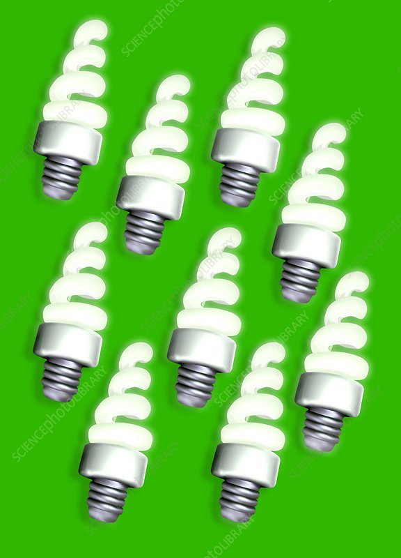Energy-saving light bulbs, artwork