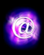 E-mail symbol, abstract artwork