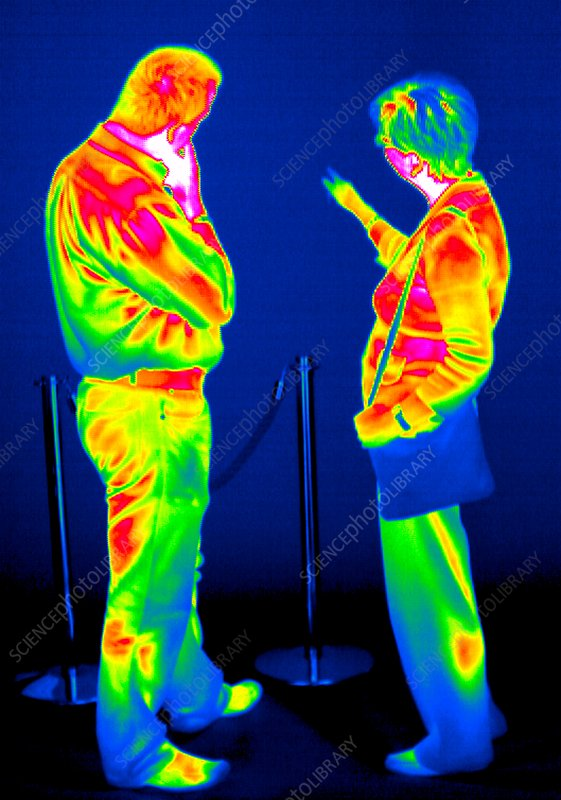 Looking at an exhibition, thermogram