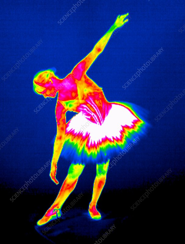 Ballerina, thermogram