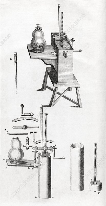Air pump equipment, 18th century artwork