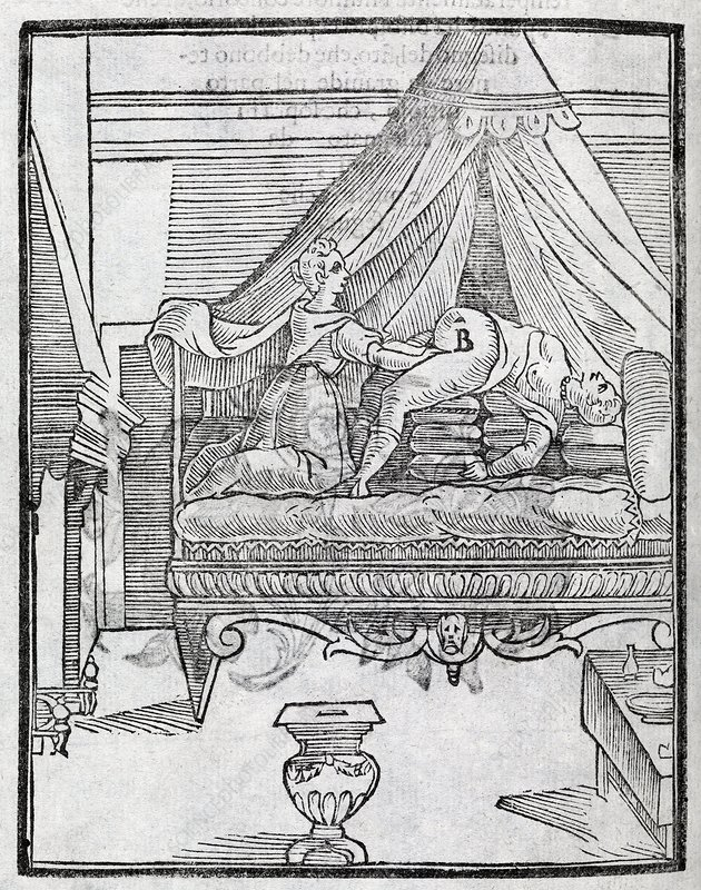 Childbirth, 17th century artwork
