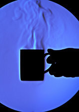 Schlieren Image of Hot Coffee Cup