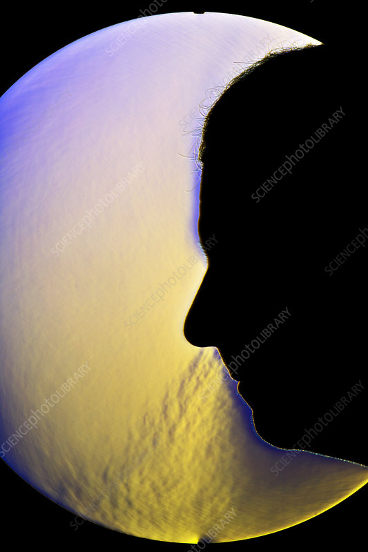 Schlieren Image of a Man Nose-Breathing