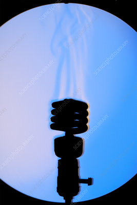 Schlieren Image of a Hot Light Bulb