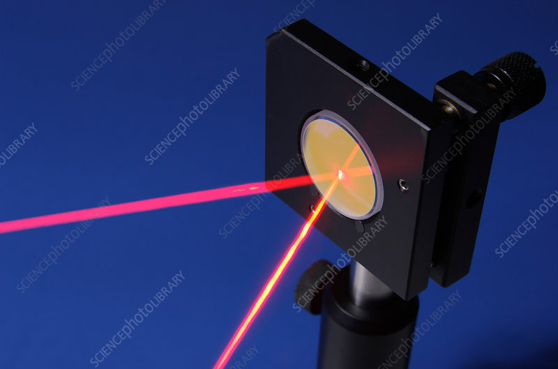 Laser Beam Reflection Stock Image C002 8386 Science