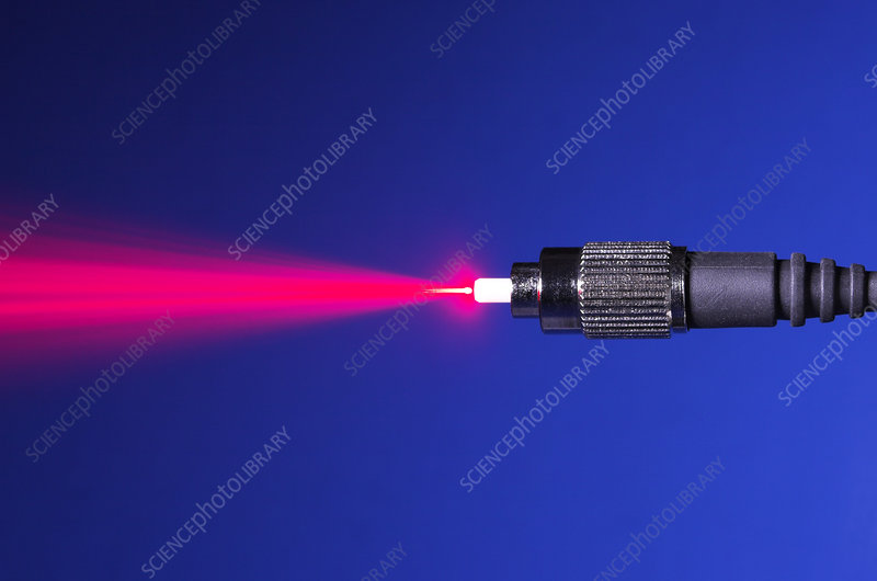 Fiber Emitting Laser Light