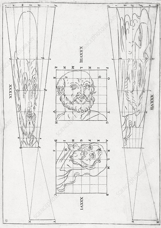 Perspective diagrams, 17th century