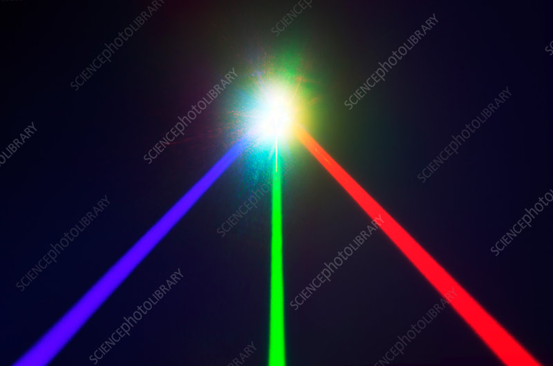 'Red, Green and Blue Lasers'