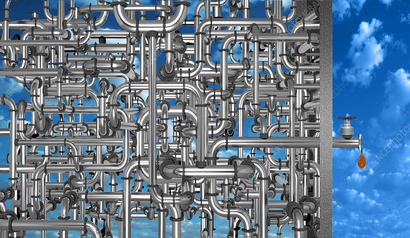Maze of Oil Pipes