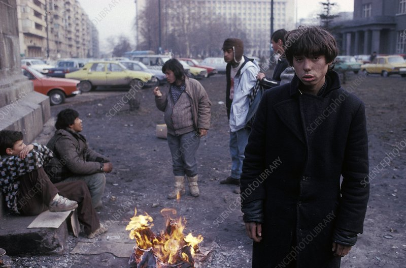 Street children, Romania