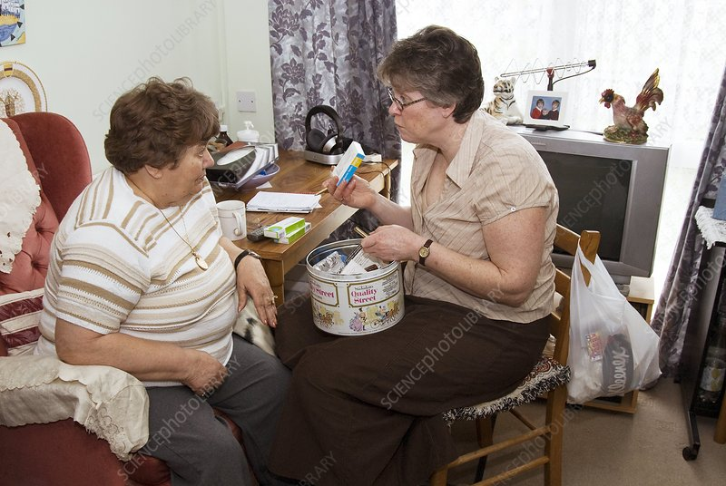 Community nurse with a patient