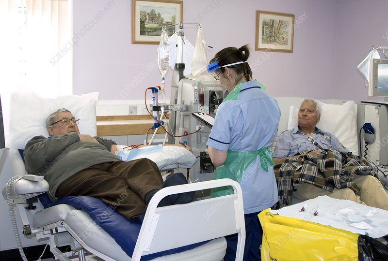 Men undergoing kidney dialysis