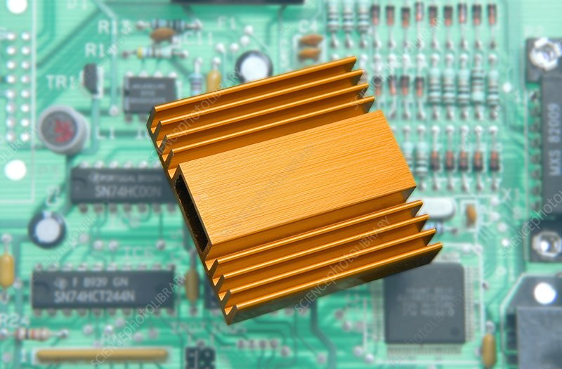 Microchip processor heat sink
