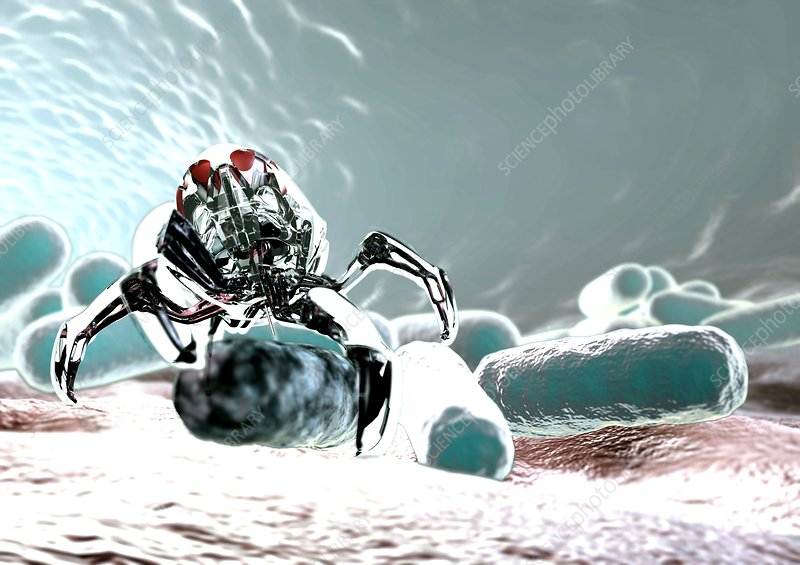 Medical nanorobot, artwork