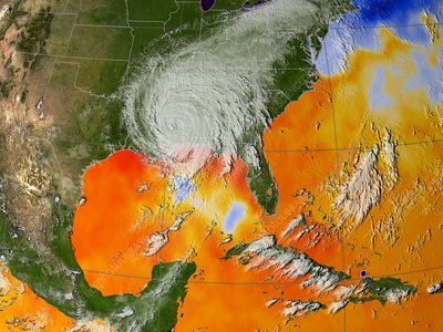 Hurricane Katrina sea surface temperature