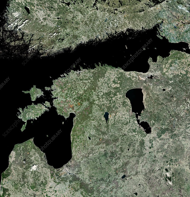 Estonia, satellite image
