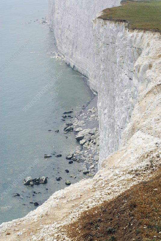 Chalk cliffs, south-east England