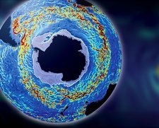 Antarctic ocean current, computer model
