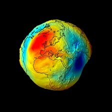 Gravity map of Earth