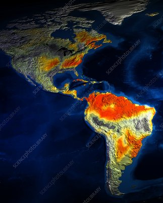 North and South America climate model