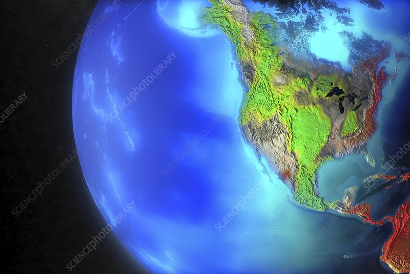 North and Central America climate model