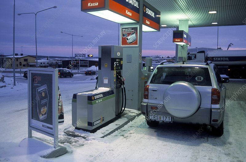 Petrol station forecourt