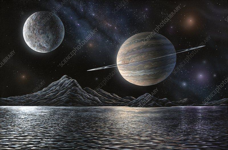exoplanet landscape orbiting giant planet - photo #17