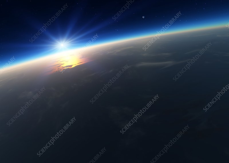 Sunrise over Earth, artwork