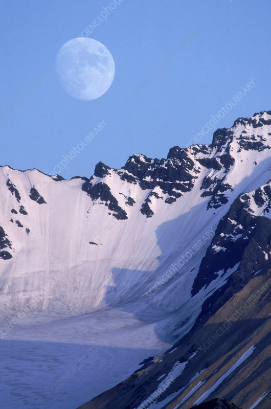 Moonrise over Alaska Range