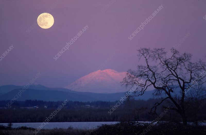 Mt. Adams and Moon
