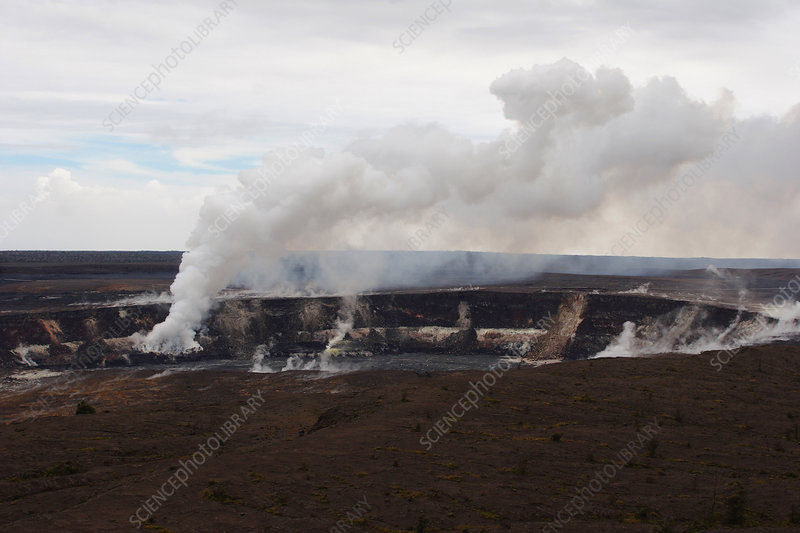 Steam and gas eruption at Kilauea Volcano