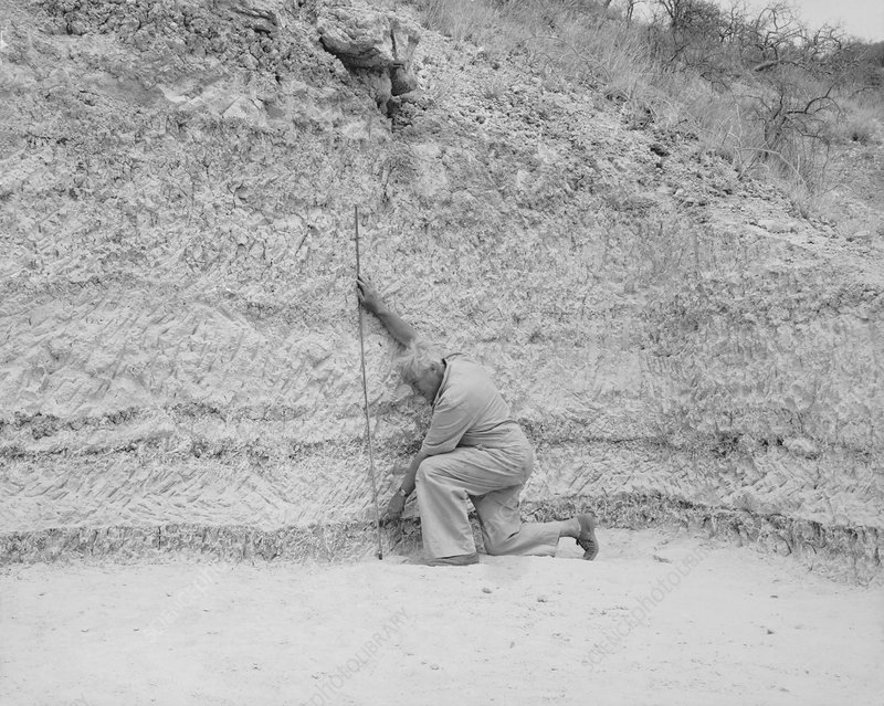 Louis Leakey at Olduvai Site