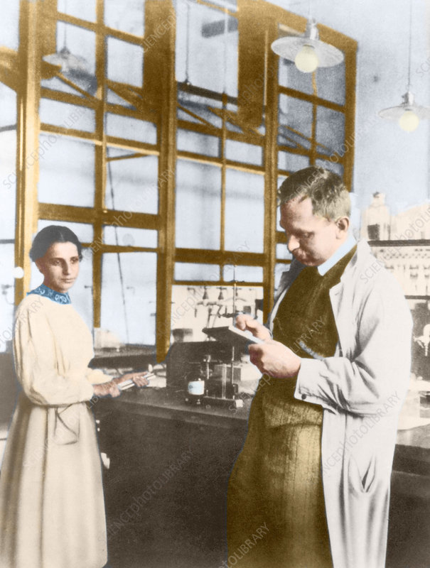 Meitner and Hahn, German chemists, 1913
