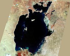 Aral Sea, satellite image, 1973