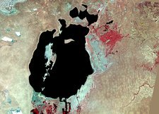 Aral Sea, satellite image, 1987