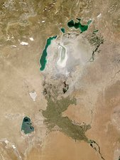 Aral Sea, satellite image, 2009