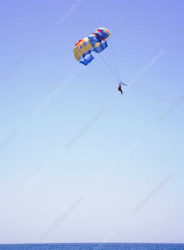 2 person parachute holiday leisure ride.